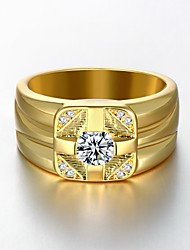 cheap -AAA Zirconium Drill 18 K Gold Plating High Quality Diamond Ring Men's Women's Jewelry