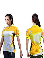Cykeltrøje Dame Kortærmet Cykel Trøje Toppe Hurtigtørrende Ultraviolet Resistent Fugtpermeabilitet Anti-statisk Åndbart Polyester Mode