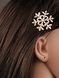 cheap -Alloy Hair Clip,Basic Natural Simple Style Lovely Elegant Winter Spring Summer Fall Silver Golden