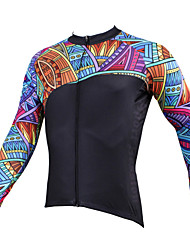 cheap -ILPALADINO Men's Long Sleeve Cycling Jersey - Black Bike Jersey, Quick Dry, Ultraviolet Resistant, Breathable Polyester