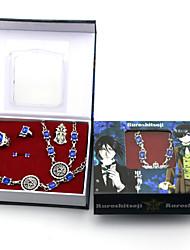 abordables -Joyas Inspirado por Black Butler Ciel Phantomhive Animé Accesorios de Cosplay Anillos 1 Brazalete Pendiente Broche Resina Cromo