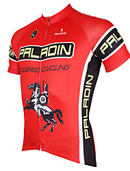 cheap -ILPALADINO Men's Short Sleeves Cycling Jersey - Red Bike Jersey, Quick Dry, Ultraviolet Resistant, Breathable