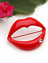 Red Lip Brooch (1Pc)