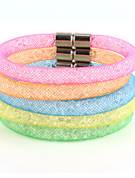 Vilam® Mesh Stardust Bracelets With Crystal stones Filled Magnetic Clasp Charm Bracelets Candy Color