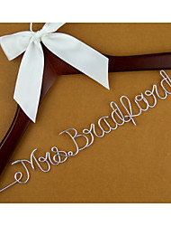 Personalized Wedding Dress Hanger, Custom Wire Bridal Name Hanger