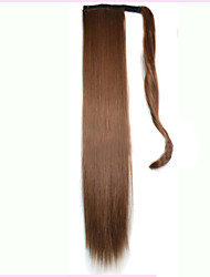abordables -Synthetic Queue de cheval Droit (Straight) Micro Ring Hair Extensions Queue de cheval 22inch gramme Moyen (90g-120g) Quantité