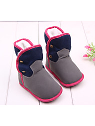 Boys' Girls' Baby Shoes Fabric Winter Fall Fashion Boots Comfort Boots Mid-Calf Boots Booties/Ankle Boots Studded For Casual Outdoor Dress