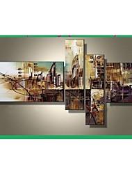 billige -Hånd-malede Abstrakt enhver Shape Lærred Hang-Painted Oliemaleri Hjem Dekoration Fire Paneler