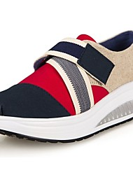 cheap -Women's Shoes Canvas Wedge Heel Platform/Crib Shoes Athletic Shoes Office & Career/Athletic/Casual Blue/Red