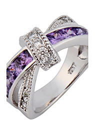 cheap -Women's Band Ring - Zircon Fashion 6 / 7 / 8 White / Purple / Blue For Wedding / Party / Daily / Casual / Sports