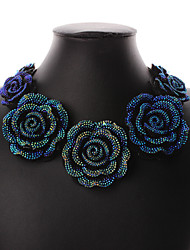 cheap -Women's Jewelry Set - Roses, Flower Vintage, Party, Casual Include Collar Necklace Blue For Party / Special Occasion / Anniversary