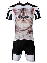 ILPALADINO Cycling Jersey with Shorts Men's Short Sleeves Bike Jersey Shorts Clothing Suits Quick Dry Ultraviolet Resistant Breathable
