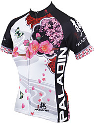 cheap -ILPALADINO Women's Short Sleeves Cycling Jersey - White Floral / Botanical Bike Jersey, Quick Dry, Ultraviolet Resistant, Breathable