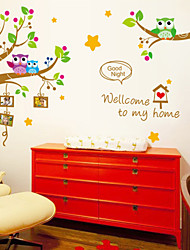 estilo calcomanías de pared pegatinas pared pegatinas de pared preciosa búho árbol pvc