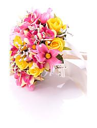 lindas flores de casamento redondas rosas buquês acessórios de casamento