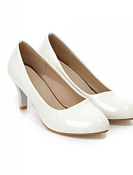 Women's Shoes Faux Leather Stiletto Heel Basic Pump/Round Toe Pumps/Heels Office