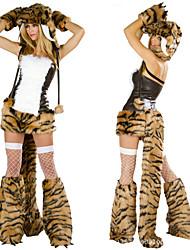 Недорогие -Костюм леопарда плюша шерсти костюм взрослого Хэллоуин женщины