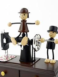 Недорогие -Кафка любителей антиквариата Швейная машина музыкальная шкатулка рукоятка игрушка декор девушка Валентина подарок