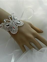 economico -Bouquet sposa Braccialetto floreale Matrimonio Party /serata Pizzo Circa 1 cm