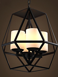 cheap -Top level American Village Vintage black Iron Lamp, Modern Chandelier Chandelier, 4 lights
