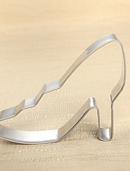 cheap -Fashion Lady's High Heeled Shoe Shape Cookie Cutters Fruit Cut Molds Stainless Steel