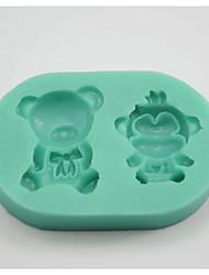 Недорогие -нести обезьяны в форме помады торт плесень шоколад силиконовые формы / инструменты украшения для кухни выпечки