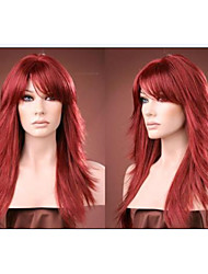 cheap -New arrivals Long Red Synthetic hair alice turned hair wig Free shipping