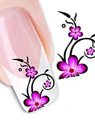 Недорогие -Цветы/Абстракция - 3D наклейки на ногти - Пальцы рук/Пальцы ног - 10.5X7X0.1 - 1 - Прочее