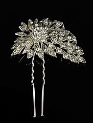 cheap -Rhinestone Alloy Hair Pin 1 Wedding Special Occasion Casual Outdoor Headpiece
