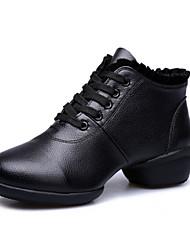 Scarpe da ballo - Non personalizzabile - Donna - Aerobica/Fitness - Basso - Pelle - Nero / Rosso