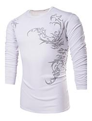 povoljno -Neformalan/Rad Ležerne košulje - MEN - Krug - Dugi rukav (Akril/Pamuk)