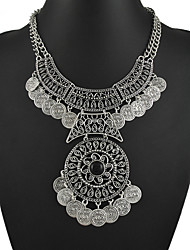 cheap -Women's Flower Shape Y-Necklace Statement Necklace Synthetic Gemstones Alloy Y-Necklace Statement Necklace Party / Evening Costume Jewelry