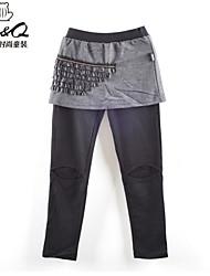 abordables -Pantalons Fille Couleur Pleine Coton Polyester Spandex Hiver Écran couleur