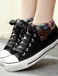 cheap -Women's Shoes Canvas Flat Heel Comfort/Round Toe Fashion Sneakers