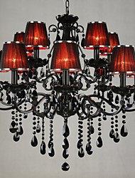 cheap -Chandeliers Crystal Modern/Contemporary Living Room Crystal,15 Light Red