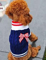 Kat Hund Bluser Hundetøj Cosplay Bryllup Sløjfeknude Rød Blå Kostume For kæledyr