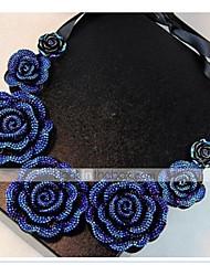 preiswerte -Damen Blumig Rosen Blume Halsketten Kragen  -  Blumig Blumen Stil Retro Modische Halsketten Für Alltag Normal