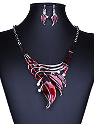 Women's Jewelry Set Drop Earrings Pendant Necklaces Fashion Statement Jewelry Vintage European Synthetic Gemstones Crystal Leaf Jewelry
