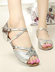SUN LISA Latin Salsa Women and Kids' Sandals Chunky Heel Satin Buckle Dance Shoes (More Colors)