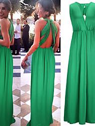 Недорогие -Жен. Изысканный и современный Свободный силуэт Платье Современный Чистый цвет