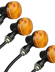 cheap -Motorcycle Motorbike Amber Turn Signal Light Bulb Indicator 12V (4 Pcs)