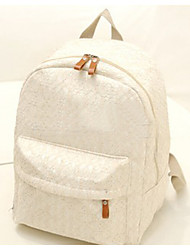 Women Nylon Backpack Beige / Black