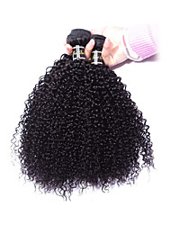"cheap -3pcs/lot 8""-34"" Mogolian Kindy Curly Hair Kinky Curly Virgin Hair 300g Hair Weft Weaving #1b Hair Extension"