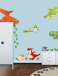 cheap -Wall Stickers Wall Decals Style New Dinosaur Zoo PVC Wall Stickers
