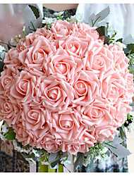 cheap -Beautiful Wedding Flowers Round Roses Bouquets Wedding Accessories