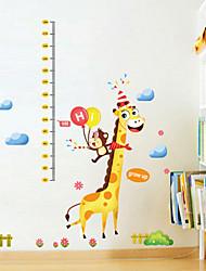 wall stickers Vægoverføringsbilleder, tegneserie jul giraf pvc væg sticker