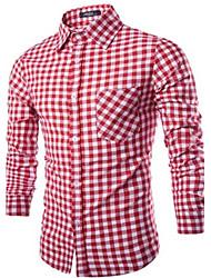 Majica Muškarci Dnevno Karirani uzorak Dugih rukava Drugo