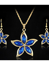 cheap -Crystal Jewelry Set - Vintage, Party, Work Include Gold / Dark Blue For Party Special Occasion Anniversary