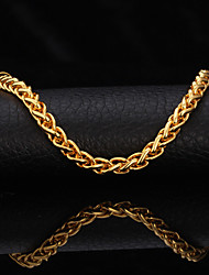 cheap -U7® High Quality 18K Gold Filled Twisted Singapore Link Chain Bracelet for Men Women 7MM 21CM Christmas Gifts