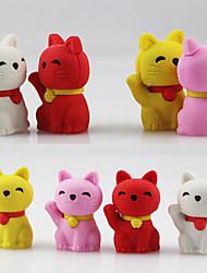 Lovely Fortune Wealth Lucky Cat Assemble Rubber Eraser (Random Color)